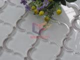 花模様のウォータージェットの水晶モザイク・タイル(CFW57)