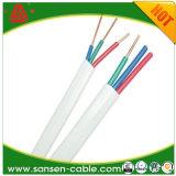 Câble plat BVV Isolation PVC Conducteur solide Câble PVC