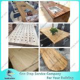Festes Holz-Küche-Metzger-BlockCountertop Worktop Tisch-Oberseite-Stab-Oberseite