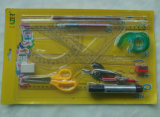 14 PCS Set de papeterie Maths Set Papier-papeterie Blister Combo Papeterie