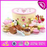 2015 La llegada de nuevos juguetes de madera de pastel de cumpleaños, regalo de cumpleaños tortas de bricolaje madera juguete colorido juego de corte, Kid Play Set juguetes (W10B102)