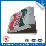 Boîte de empaquetage à pizza ondulée de papier d'emballage blanchi
