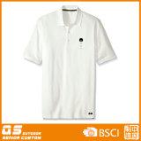T-shirt sec d'ajustement de polo des sports des hommes