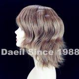 Parrucca piena 100% del merletto dei brevi capelli delle donne fatta a mano