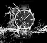Relógio de liga de relógios de couro genuíno de ouro e relógios de movimento japonês