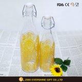 振動上のふたが付いている熱い販売の飲料ジュースのガラスビン