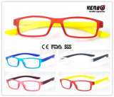 Spring Hinge Kr5094の柔らかいRubber Painting Reading Glasses