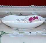 De nieuwe Plaat van de Schotel van het Vaatwerk van China van het Been Ceramische