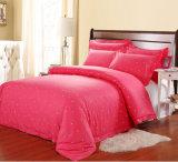 El telar jacquar 100% del algodón imprimió los conjuntos de la hoja para el hotel