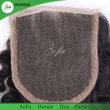 Brasilianischer Jungfrau-Menschenhaar-Hersteller im China-Haar-Schliessen