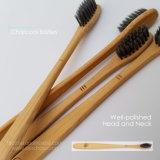 Биоразлагаемые бамбук ручка зубной щетки зуба, бисфенол-А мягкие/средних щетину с активированным углем