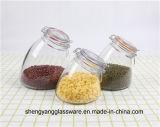 Recipiente de vidro da forma da forma da amostra livre com a boa tampa selada