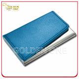 Design de luxo padrão de crocodilo caso de cartão de couro com moldura de metal