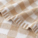 겨울 도매를 위한 크리스마스 패턴에 의하여 뜨개질을 하는 담요