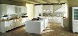 Melamined stellte Spanplatte Kraftstoffregler-Küche-Schrank gegenüber