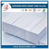 RFID imprimível Cr80 PVC cartão em branco com sobreposição