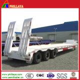 2-3axle 13.5m de Lage Semi Aanhangwagens van de Vrachtwagen van Lowboy van het Bed 40ton