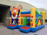 2016 annuncio pubblicitario Inflatable Castles rimbalzante con Cartoon, Inflatable Clown Jumping Bouncer per Adult