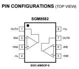 IC Geïntegreerde schakeling Sgm8582xs8g/Tr van de Versterker van Operatioal van de Precisie