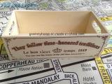 시골풍 포도 수확 작은 나무 상자 상자
