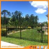 Rete fissa residenziale ornamentale di alluminio del giardino delle tre rotaie