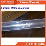 PVC пускает отметку по трубам лазера пробки 30W 60W металла RF СО2 машины маркировки