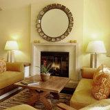 Grande lareira de mármore com multa Hand-Carved Qualidade e design simples T-7200