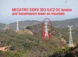 Torretta di tensionamento e della trasmissione di CC di Megatro 330kv 3D3-Sjc2 sulla montagna