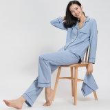 Высокое качество 100% хлопок женщин Sleepwear платье с мешок для хранения данных