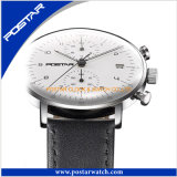 Relógio Water-Resisting de quartzo com a faixa do couro genuíno