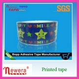 Cinta de acrílico adhesiva impresa del embalaje del diseño BOPP