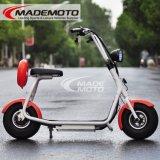 Scooter électrique de vente de mobilité de 2016 le meilleur roues puissantes de 800W 60V Citycoco 2