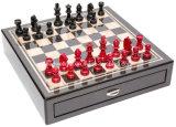 Chessmen/settima scheda di scacchi della fibra del carbonio del viale/casella con due cassetti