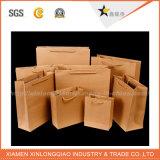 環境に優しいハンドルが付いているクラフト紙袋をカスタム設計しなさい