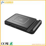 batería sin hilos de la potencia de carga 4000mAh con el soporte del teléfono y el acceso del USB