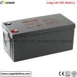 Bateria profunda 12V120ah do gel do ciclo do fabricante para o sistema de energia solar