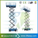 6m-12m Mobile Semi plataforma móvel eléctrico de elevador de tesoura