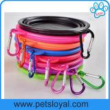 Cuvette de câble d'alimentation de course de crabot d'animal familier de silicones d'accessoires d'animal familier