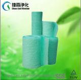 노란 녹색 백색 페인트 정지 필터 또는 섬유유리 필터