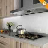Oppein schnelles Anlieferungs-kundenspezifisches Melamin-hölzerne Korn-Küche-Möbel (OP14-K010)