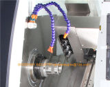 Окраску кровать турель с ЧПУ Станок токарный станок и Tck46p для резки металла при повороте
