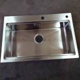 Equipamento de restos de cozinha de aço inoxidável de pias de cozinha Taça Sinks-Single