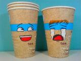 Taza de papel de la bebida fría biodegradable respetuosa del medio ambiente