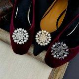 Шикарные орнаменты ботинка кристаллический стекла для ботинок женщин