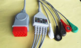 Bionet 12Контакт Aha стопорное 5 Leadwire кабель ЭКГ