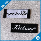 Kundenspezifische Firmenzeichen-Marke gesponnener Kennsatz für Kleid-/Kleidungs-Gewebe