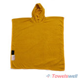 Orange Microfiber Hooded Kids Beach Towel