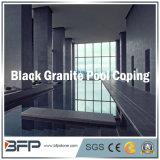 Piscine noire de granit satisfaisant/pavage de syndicat de prix ferme/natation entourant pour l'étage/syndicat de prix ferme