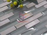 Marmo di legno grigio del grano con il mosaico di vetro (CFS712)