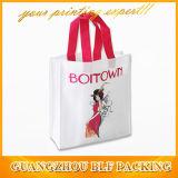 Les femmes de tissu non tissé des sacs de magasinage (FLO-NW251)